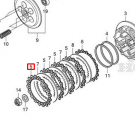 CRF250L Clutch Friction Plate (A)