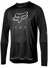 Defend Long Sleeve Fox Head Jersey (Black)