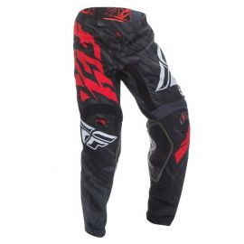 Fly Racing Kinetic Relapse MX Pants - Black Red
