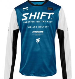 Shift Syndicate Whit3 Label Jersey - BLUE-M