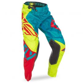 Fly Racing Evolution 2.0 MX Pants - Dark Teal / Hi Vis