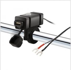 USB Motorcycle Charger Power Switch 5V Smart Charging Power