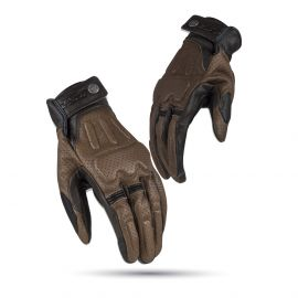 LS2 Rust Man Gloves Brown Leather - Large